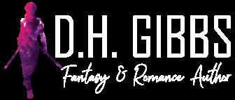 DH Gibbs Logo - White